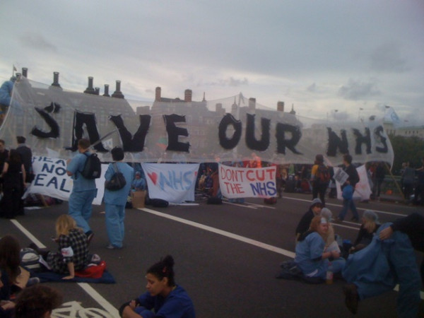 Banner: Save Our NHS