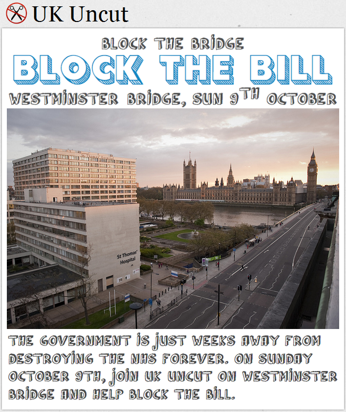 Block The Bridge Block The Bill – Liveblog