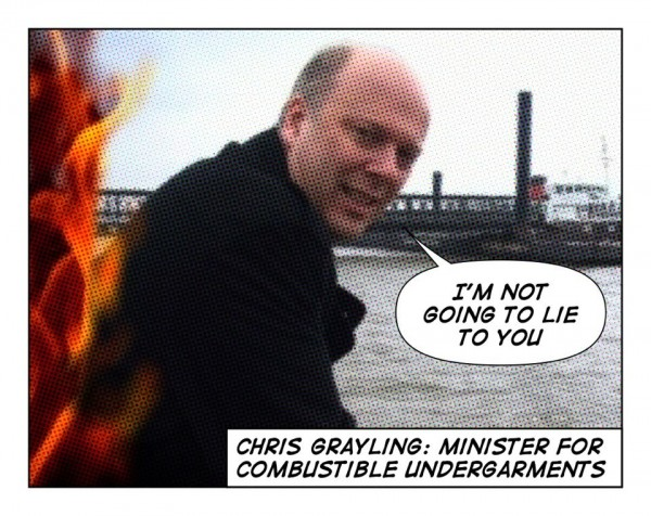 Chris Grayling: minister for combustible undergarments
