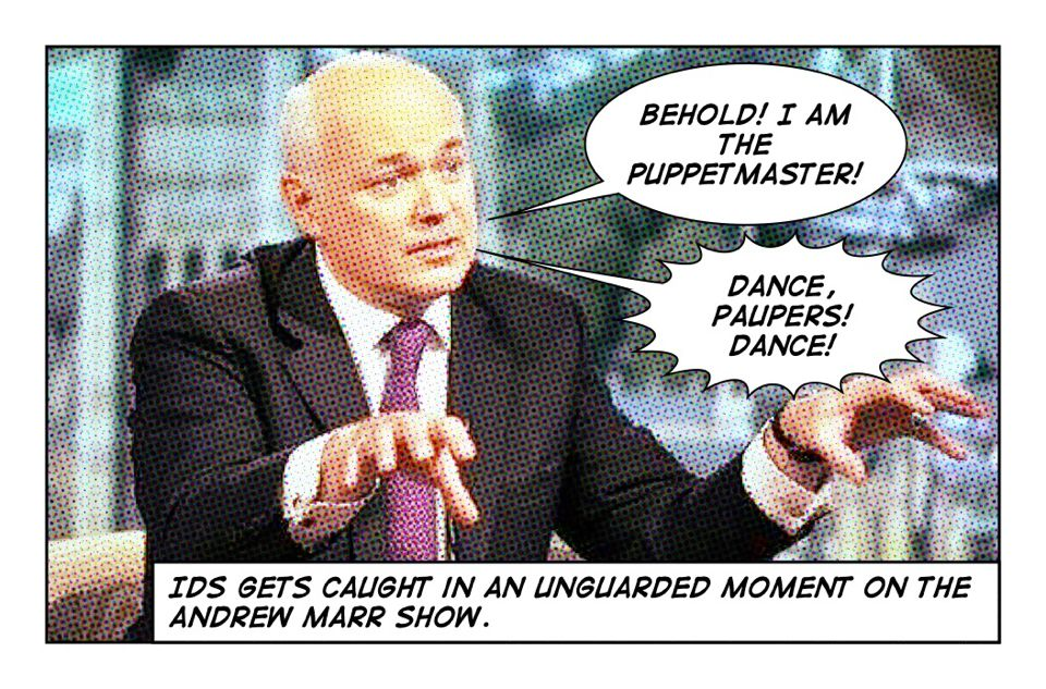 "Iain Duncan Smith slips up: ""She was paid jobseeker's allowance to do this"""