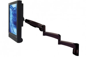 Wall Mount VisionPro 500 Series Long Reach Gas Assisted LCD Arm