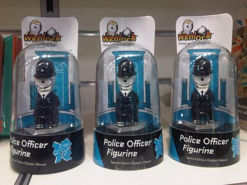 Wenlock in police uniform