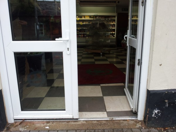 The front door at Spar in Badsey