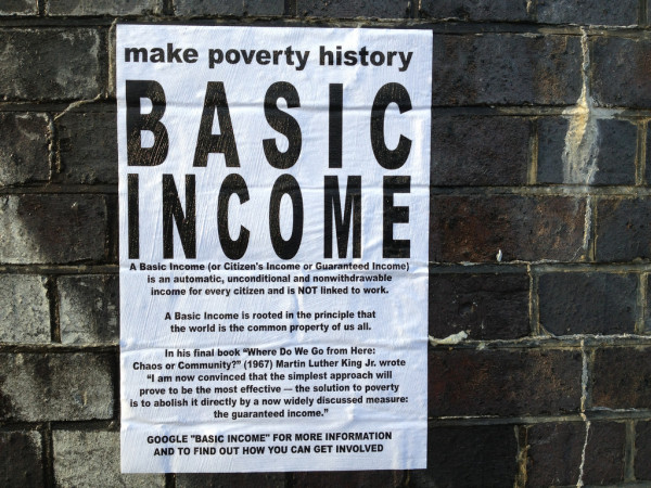 Make Poverty History poster - Basic Income