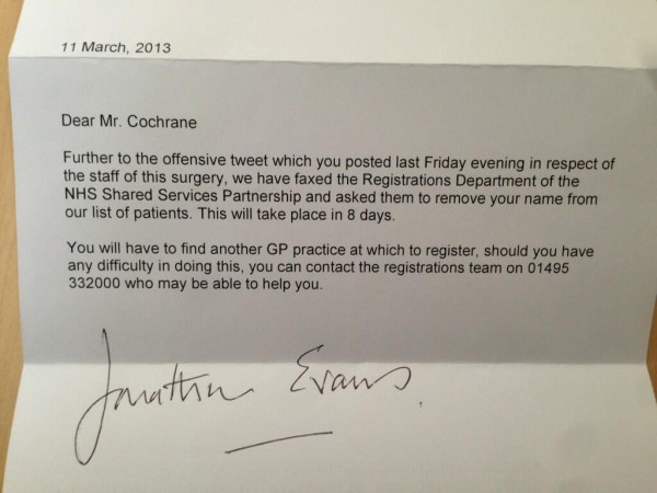 gp discharge letter