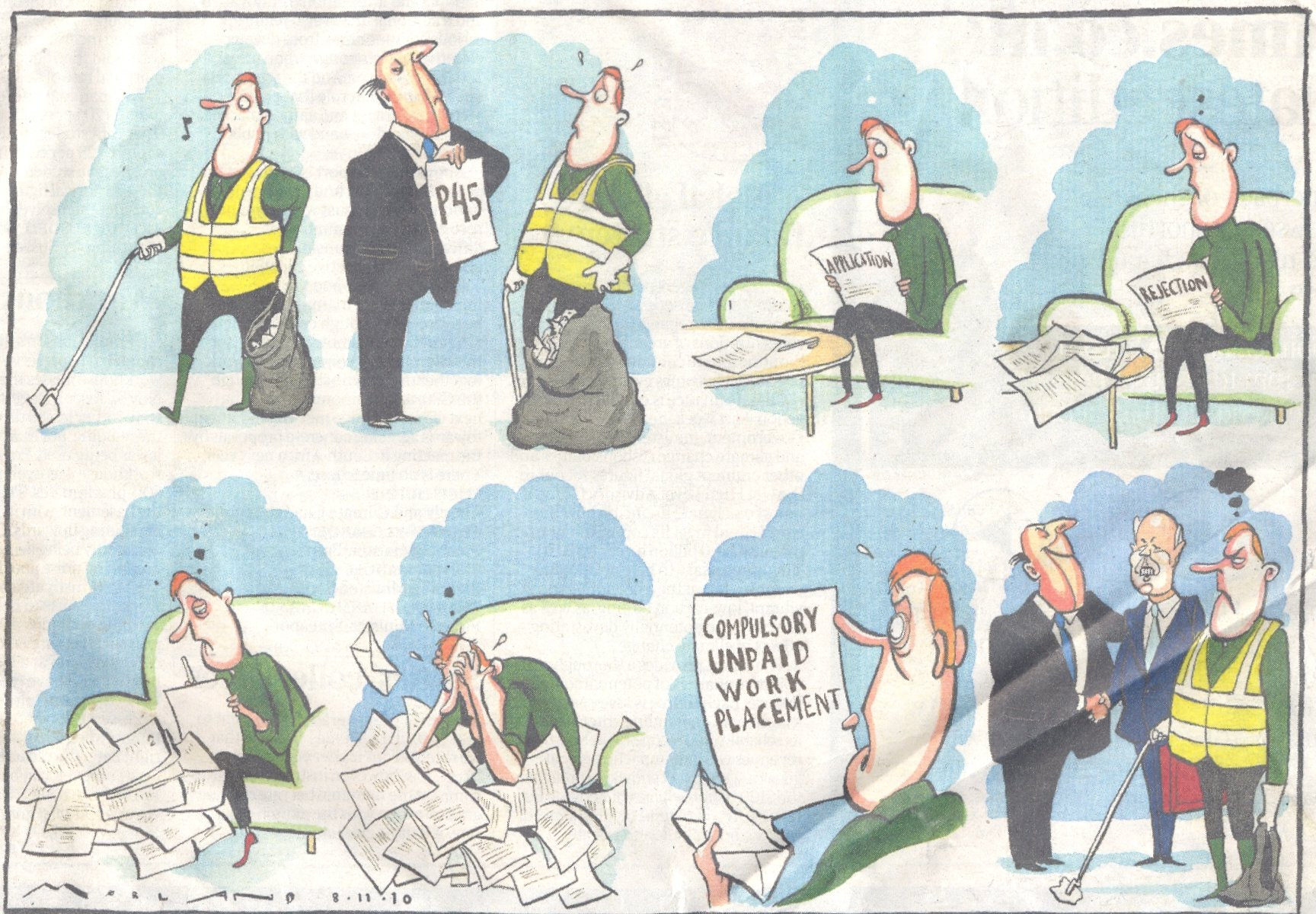 Workfare Times cartoon