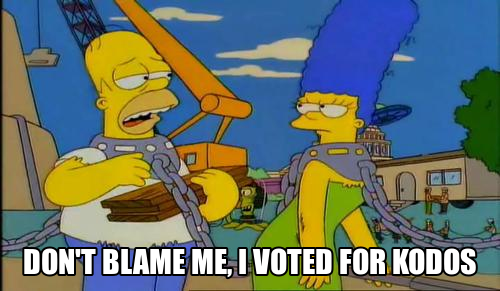 Don't blame me, I voted for kodos