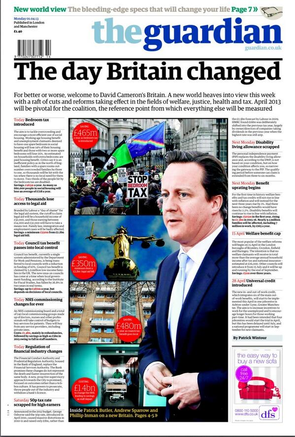 Guardian front page 2013-04-01