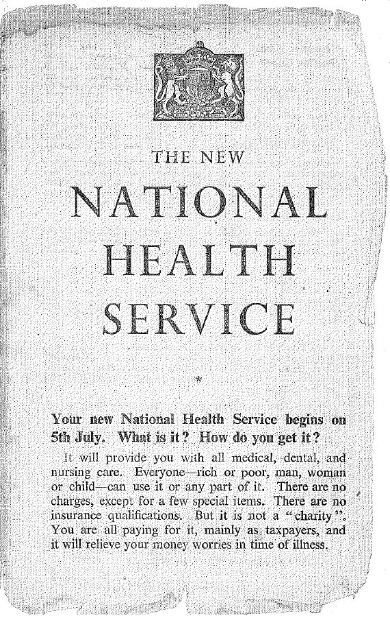 1948 pamphlet explaining the new NHS