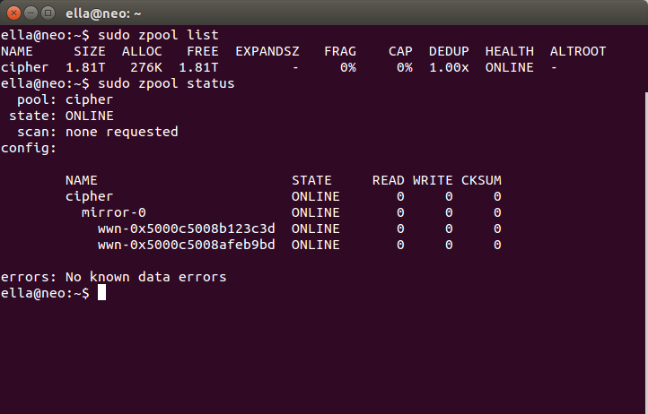 Zfs and ubuntu home server howto a latent existence for Show zfs pool version