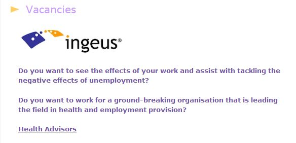 "Ingeus recruiting ""Health Advisors"" for DWP forced ""bio-psychosocial health assessments"""